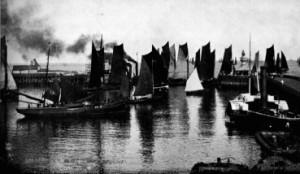 Herring Drifters leaving Lowestoft